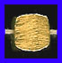 Mat Bead - 7x7mm - Gold Plated Silver<br>ORSB-1956