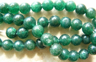 "Green Aventurine Round Beads 6mm 14"" strands"