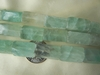 "Green Calcite Rectangular Beads 8x8x16mm 16"" Strands"