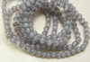 "Grey Cats Eye Fiber Optic Beads 16"" strands"