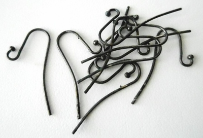 Ear Wires - 10x25mm - 10 Pieces - Gun Metal<br>PK3103GM