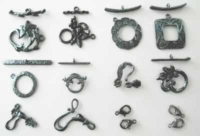 Toggles and Closures - Gun Metal -