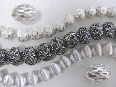 Hollow Beads - .999 Silver Over Copper -