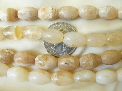 Honey Opal Oval barrel beads 10x14mm