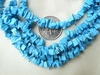 "Howlite Chip Beads 36"" Ready to wear Strand Turquoise Color"
