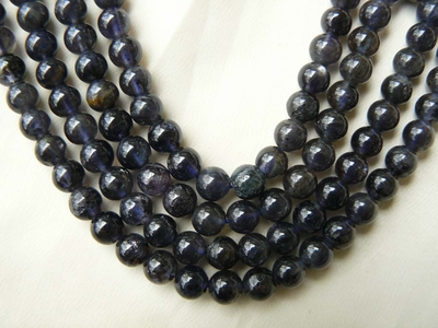 Iolite Beads Freeform, Round and Chips