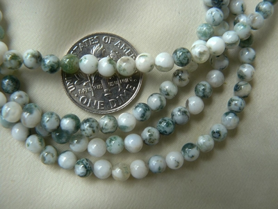 "Tree Jade Beads 4mm 16"" Strands"