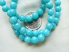 "Jade beads Blue color 6mm 16"" Strands"