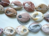 Jasper Carved Oval Beads with Holes Hand Carved and high polish