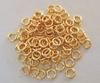 Jump Ring - 6mm - OPEN - 102 Pieces - 24kt. Gold Over Copper<BR>GCBK44-6