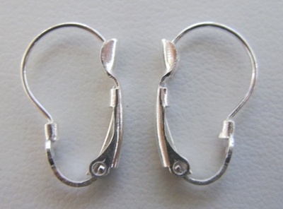 Kidney-Shaped Lever Back - 12x18mm - 6 Pairs - .999 Silver Over Copper