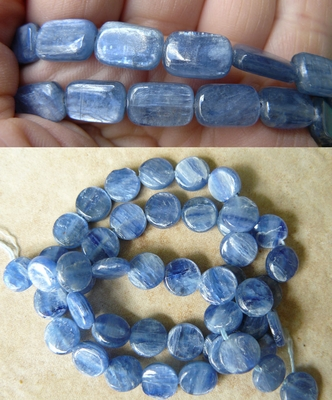 Kyanite Beads A pearly Blue