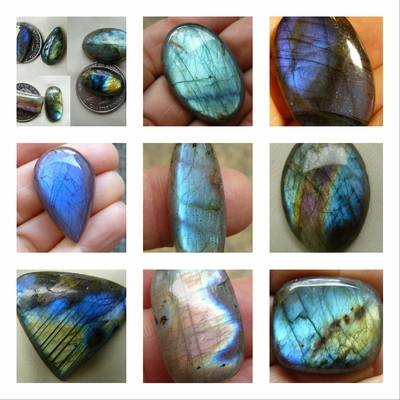 Labradorite  Cabochons  round, rectangle, teardrop, oval