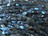 "Labradorite Diamond shaped Beads 7x9mm 15"" strands Flashy"