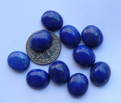 Lapis 10x12 MM Oval Calibrated Cabochons AAA Quality