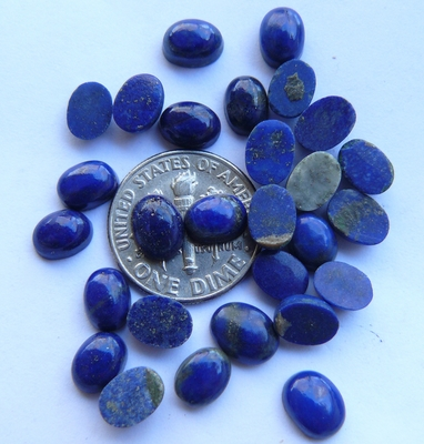 Lapis Cabochons Oval 5x7mm Calibrated AAA Quality