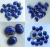 Lapis Cabochons oval, round, and teardrop AAA lapis