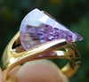 Lavender CZ Lazer Cut Ring with your choice of Ring size