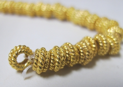 Layered Rope Detail Spacer-24Kt. Over Copper