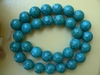 Magnesite Turquoise beads 13mm round darker turquoise