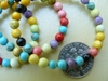 "Magnesite Beads 4mm Multi-colored 16"" strand"
