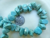 "Magnesite Turquoise Chunky chip beads 16"" Strands"