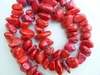 Magnesite Chunkey Coral color nugget Beads