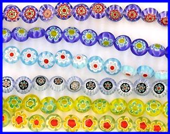 Millefiori 8mm Disc Beads