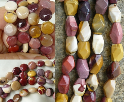"Mookaite Beads - Oval, Chunky, Faceted and more 16"" strands"