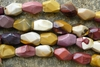 Mookaite Beads Faceted Nugget 16 inch Strands