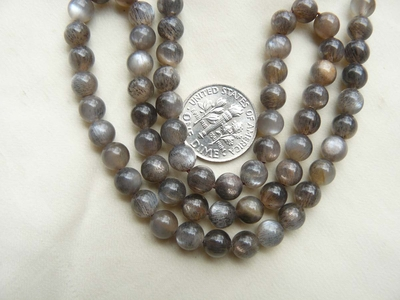 Moonstone Beads 6mm Shimmering Golden Brown