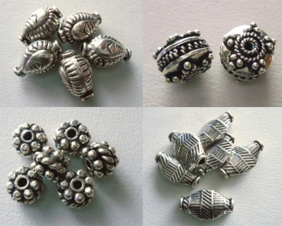 Bali style Beads - Sterling Silver -