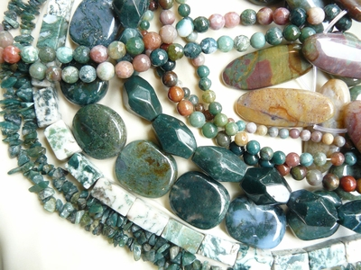 Moss Agate Beads Natural Translucent Mossy Look