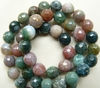 Moss Agate Faceted 8mm Beads