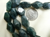 "Moss Agate Beads Faceted Chunky 14x21mm 16"" Strands"