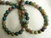 "Moss Agate Round 6mm Beads 16"" strands Scenic colorful"