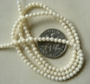 "Mother of Pearl 4mm round shimmering beads 16"" strands"