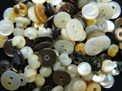 Mother of Pearl Antique Buttons sold in 10 button packs