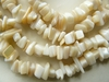 "Mother of Pearl Chip Beads 36"" continuous strands with luster"