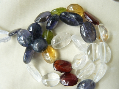 Multi-stone oval Gemstone 9x11x7 Oval beads Assorted Gems