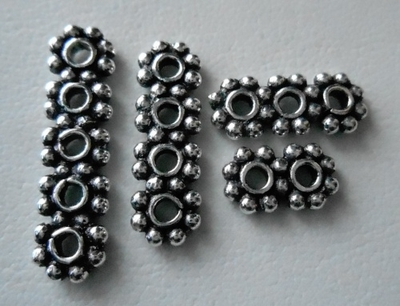 Multi-Strand Daisy Spacers - .999 Silver Over Copper<br>SCBK21