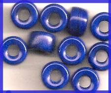 Navy Blue Crow Roller Beads