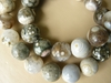 "Ocean Jasper 12MM Round Smooth Beads 16"" Strands"