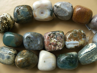 "Ocean Jasper Jumbo nugget beads- 20 to 26mm 16"" Strands"