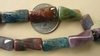 "Ocean Jasper Beads Twisted Carved Tubes 9x18mm 16"" Strands"
