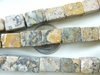 "Ocean Jasper Cube Beads lighter color 15x11mm 16"" strands 26 Beads"