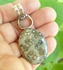 Ocean Jasper Pendant Set in Sterling Silver 21X28mm stone