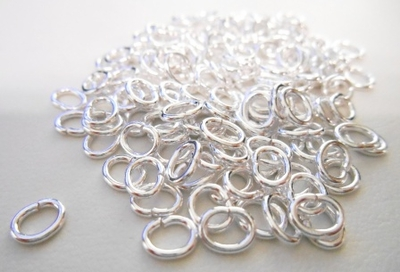Oval Jump Rings - Open or Closed - 4x6mm - 135 Pieces - .999 Silver Over Copper<br>SCBK115-6