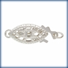 Sterling Silver Pearl Clasp 6x12mm 5 Clasps  SS/6000