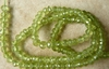 "Peridot fancy faceted beads and tube beads 4mm 14"" strands premium AAA"